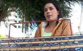 Natasha Osorio recuerda el día de su partida, el más triste de su vida. Foto: Captura