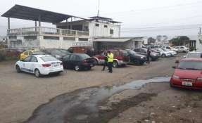 Artefacto explosivo detonó en Cuartel Policial de El Triunfo. Foto: Ministerio del Interior