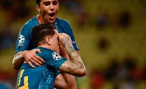 José Maria Giménez convirtió el tanto del empate. Foto: CHRISTOPHE SIMON / AFP