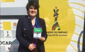 La gran maestra ecuatoriana le ganó a Joan Gemota de Palaos. Foto: Tomada de @HerediaCarla