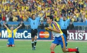 Kaviedes anotó el gol de la clasificación a Corea Japón en el 2002. Foto: FEF