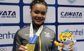 La pesista nacional consiguió dos preseas de bronce en mundial de Levantamiento de pesas. Foto: Tomada de www.deporte.gob.ec