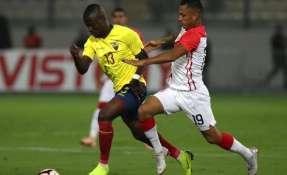 Enner Valencia anotó el segundo gol de la victoria ante Perú. Foto: FEF