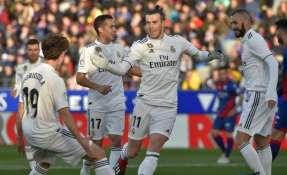 HUESCA, España.- Gareth Bale anotó el único gol del partido. Foto: AFP