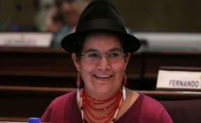 Cancillería ecuatoriana presentó candidatura de líder indígena de Cotopaxi. Foto: Flickr Asamblea / Archivo