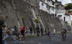 Opositores desafían en las calles segundo mandato de Maduro. Foto: AFP