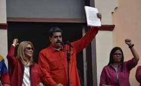 Maduro anuncia que Venezuela rompe relaciones con EEUU. Foto: AFP
