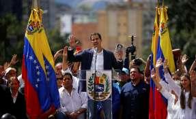 """Juan Guaidó, líder opositor y presidente de la Asamblea Nacional, se declaró presidente """"encargado"""" de Venezuela. Foto: AP"""