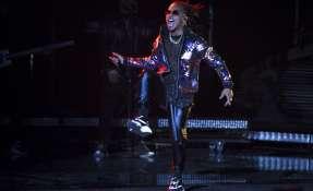 En esta foto del 15 de noviembre del 2018, Ozuna actúa en los Latin Grammy en Las Vegas. Foto: AP