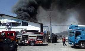 QUITO, Ecuador.- Hasta el momento no se reportan víctimas. Foto: Bomberos Quito