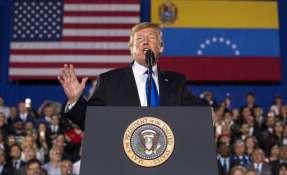 MIAMI, Florida.- El mandatario estadounidense alentó a milicia de Venezuela a aceptar amnistía de Guaidó. Foto: AP.