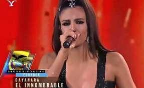 Dayanara Perarlta pasó a la final del concurso de Viña del Mar.
