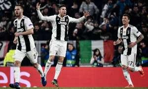Cristiano Ronaldo celebrando un gol con la Juve.