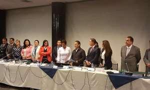 """""""Procederemos inmediatamente a informar a las y los Asambleístas sobre el mismo y se convocará al Pleno el día domingo 2 de julio"""", dijo el presidente de la Asamblea, José Serrano, vía twitter. Foto: @ppsesa"""