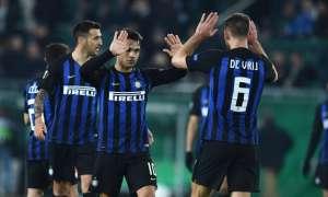 El cuadro italiano festeja su victoria.