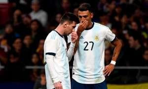 Messi en su partido ante Venezuela.