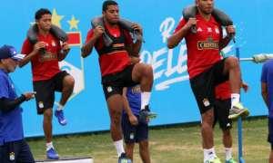 Sporting Cristal en una de sus prácticas