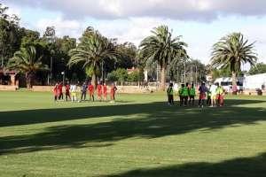 Barcelona en un entrenamiento de pretemporada
