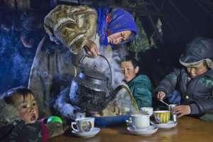 Hora del té en la península de Yamal