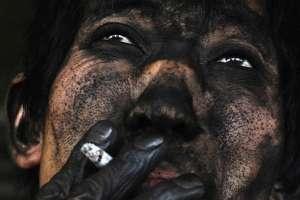 El rostro de un minero de carbón chino