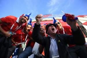 Camerún y Chile en el Estadio Spartak en Moscú el 18 de junio de 2017