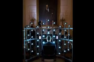 Sesión fotográfica a Obama, para un retrato 3D.