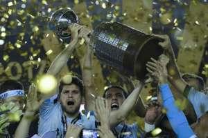 Gremio celebra su victoria en la Copa Libertadores / Fotos: AFP