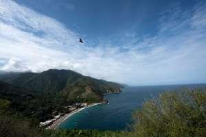 Vista general del pueblo de Chichiriviche de la Costa, a unos 70 km al noroeste de Caracas