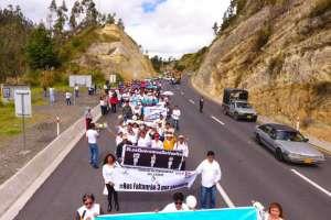 Multitudinaria marcha en sector fronterizo