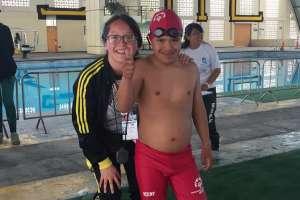 QUITO, Ecuador.- La selección de Azuay participó en casi todas las pruebas de natación. Foto: Ecuavisa