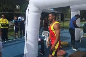 QUITO, Ecuador.- El atleta luego de haber logrado satisfactoriamente su presentación. Foto: Ecuavisa