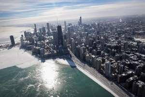 Lago Michigan, en Estados Unidos. Foto: AFP