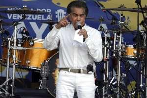 """CÚCUTA, Colombia.- En su intervención, José Luis Rodríguez pidió """"que se terminen las dictaduras en Latinoamérica"""". Foto: AP"""