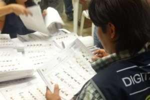 LOMAS DE SARGENTILLO.- Hoy se notificará a las Organizaciones Políticas sobre los resultados obtenidos. Foto: CNE-.