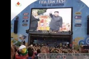 Supuesta imagen del líder Kim Jong-un en un Fan Fest de Copacabana.