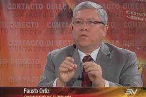 ECUADOR.- Fausto Ortiz durante su entrevista en Contacto Directo. Foto: Ecuavisa