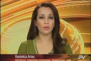 ECUADOR.- Verónica Arias durante su entrevista en Contacto Directo. Foto: Ecuavisa