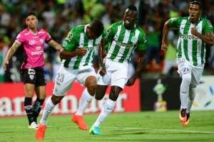 MEDELLÍN, Colombia.- Borja festeja el gol que podría darle la Libertadores al 'Verde'. Foto: AFP.