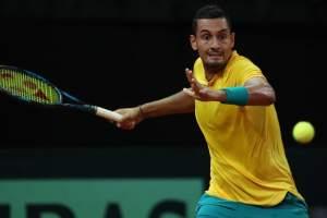 El australiano Nick Kyrgios le dio el empate a su país ante Bélgica por Copa Davis.