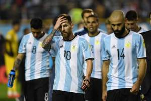 La 'albiceleste' necesita vencer a Ecuador para tener opciones de ir al Mundial. Foto: AFP