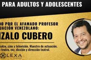"""El reconocido actor de cine y teatro venezolano Gonzalo Cubero dictará en Guayaquil el taller vivencial mixto """"Vive y trabaja la actuación""""."""