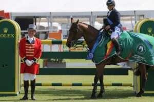 El deportista nacional ganó la modalidad de salto de velocidad en la disciplina Ecuestre. Foto: Tomada de http://galatvmorelos.tv/