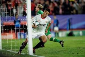 Ben Yedder hizo un doblete para el conjunto español que perdía 3-0  tras el primer tiempo. Foto: AFP