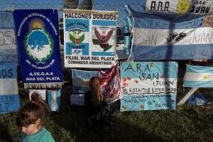 El submarino había zarpado el domingo 11 de Ushuaia (3.200 km al sur) de regreso a Mar del Plata. Foto: AFP