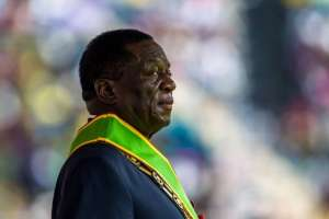 Emmerson Mnangagwa prestó juramento como presidente de Zimbabue  Foto: AFP