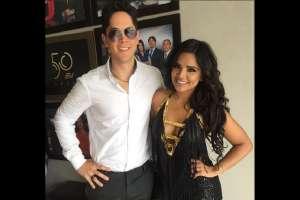 """""""La Coqueta"""" y el cantante venezolano David Depablos / Foto:En Contacto"""
