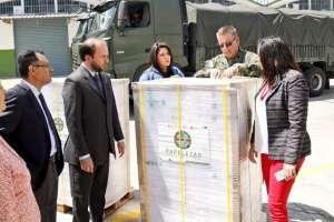 QUITO, Ecuador.- Autoridades informaron sobre el avance en la impresión de la papelería electoral. Foto: Twitter CNE
