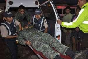Ataque de disidentes de las FARC deja dos soldados ecuatorianos heridos. Foto: Facebook Voluntarios Fuerza Terrestre