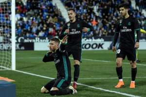 Sergio Ramos convirtió el último tanto del cuadro 'meregue'. Foto: AFP