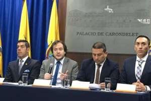 En 2018 se fusionarán nueve entidades, anunció Mideros en rueda de prensa. Foto: @ComunicacionEc